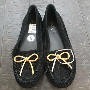 Lucky brand black suede loafer Sz 8